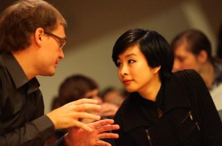 With Percussionist Xi Rachel Zhang, Samobor 2012