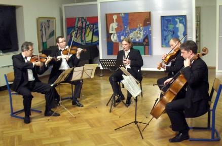 With Zagreb String Quartet, Samobor 2009