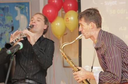 With Saxophonist Tomislav Žužak, Samobor 2012